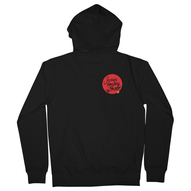 Savage Hand, Script Men's Zip-Up Hoody by The Martial Arts Academy's Store