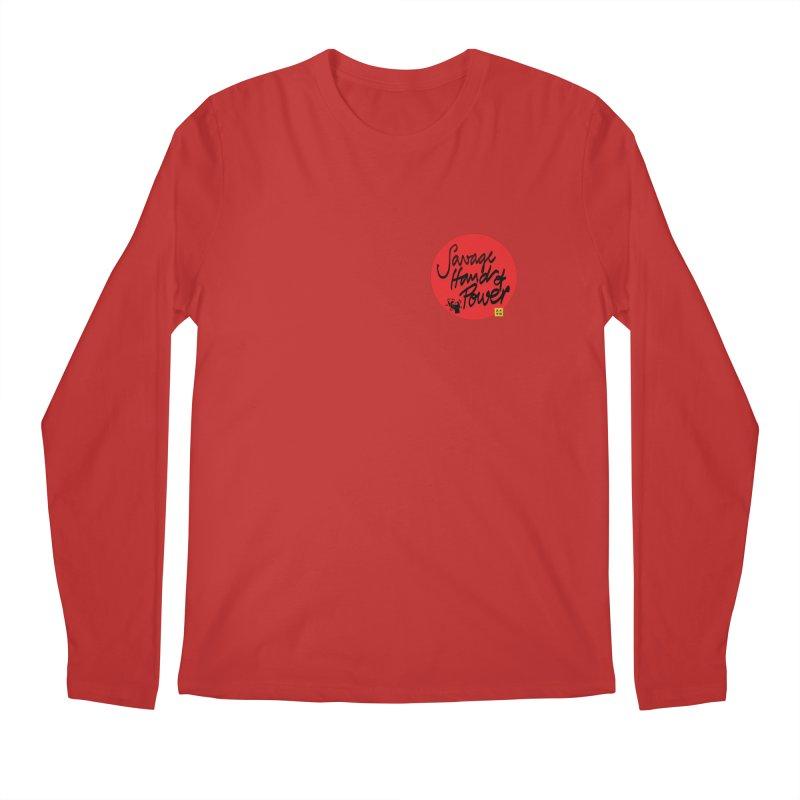 Savage Hand, Script Men's Regular Longsleeve T-Shirt by The Martial Arts Academy's Store