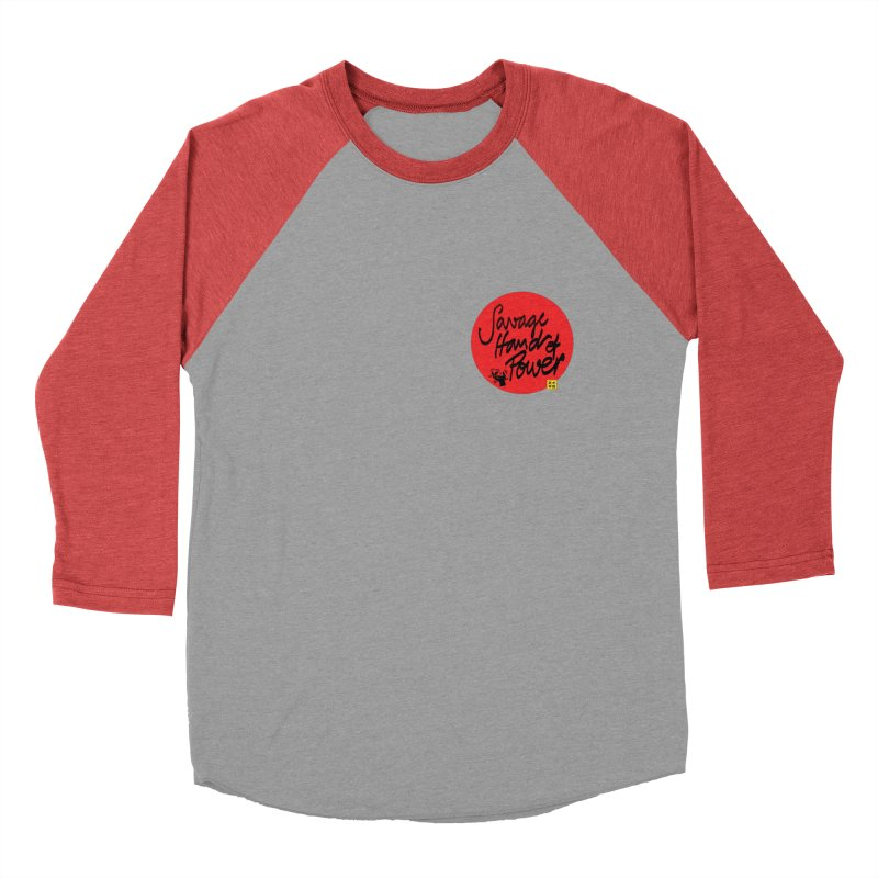 Savage Hand, Script Women's Baseball Triblend Longsleeve T-Shirt by The Martial Arts Academy's Store
