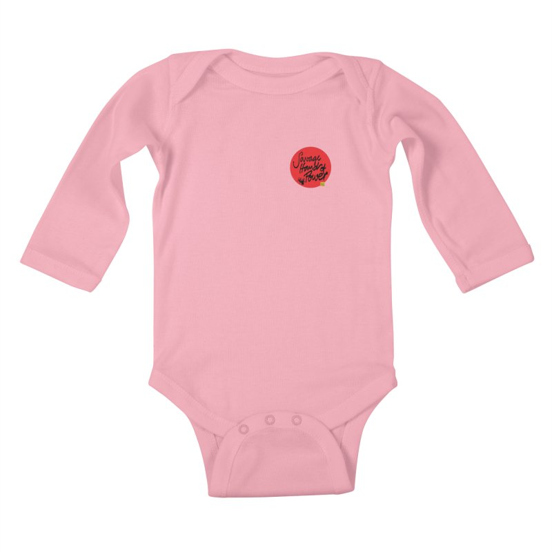 Savage Hand, Script Kids Baby Longsleeve Bodysuit by The Martial Arts Academy's Store