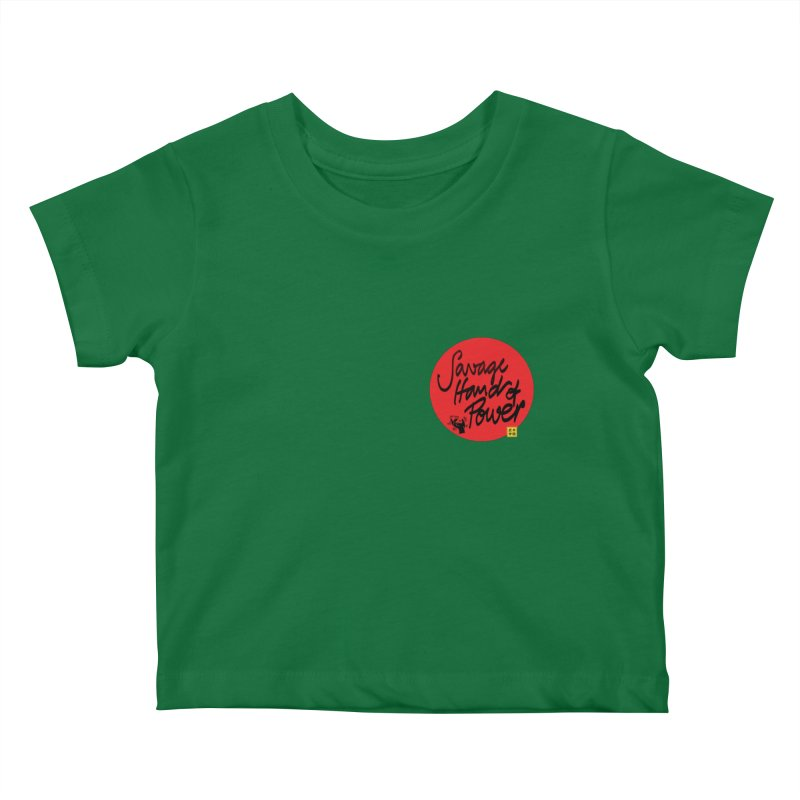 Savage Hand, Script Kids Baby T-Shirt by The Martial Arts Academy's Store
