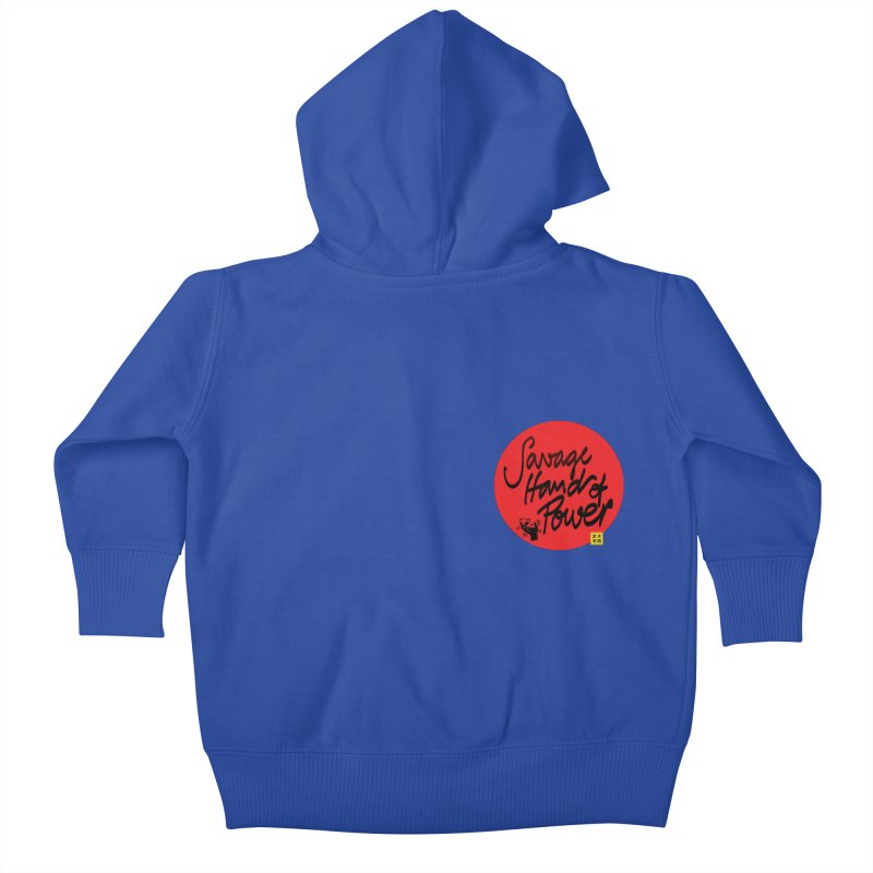 Savage Hand, Script Kids Baby Zip-Up Hoody by The Martial Arts Academy's Store