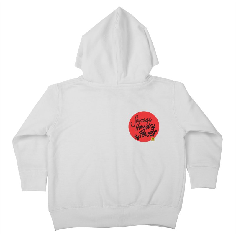 Savage Hand, Script Kids Toddler Zip-Up Hoody by The Martial Arts Academy's Store