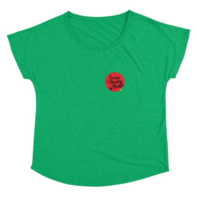Savage Hand, Script Women's Dolman Scoop Neck by The Martial Arts Academy's Store