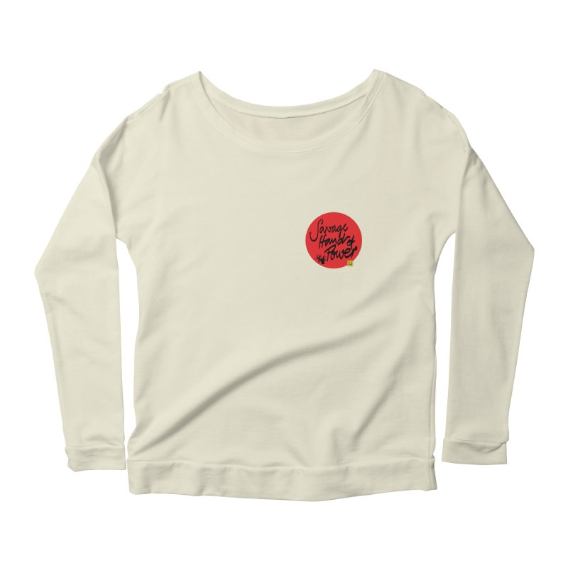 Savage Hand, Script Women's Scoop Neck Longsleeve T-Shirt by The Martial Arts Academy's Store