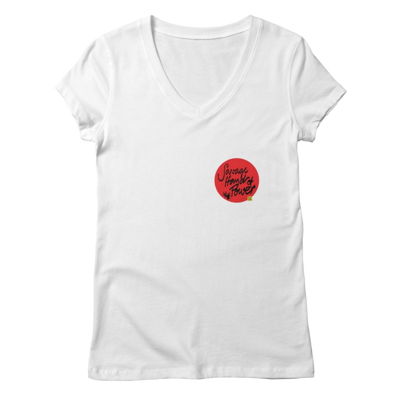 Savage Hand, Script Women's Regular V-Neck by The Martial Arts Academy's Store