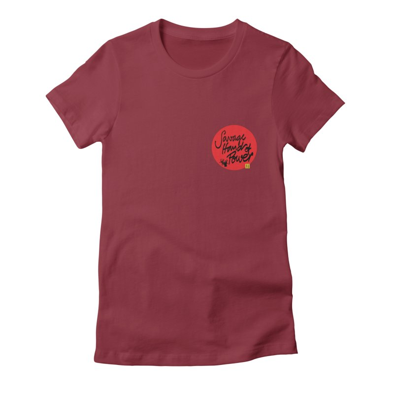 Savage Hand, Script Women's Fitted T-Shirt by The Martial Arts Academy's Store