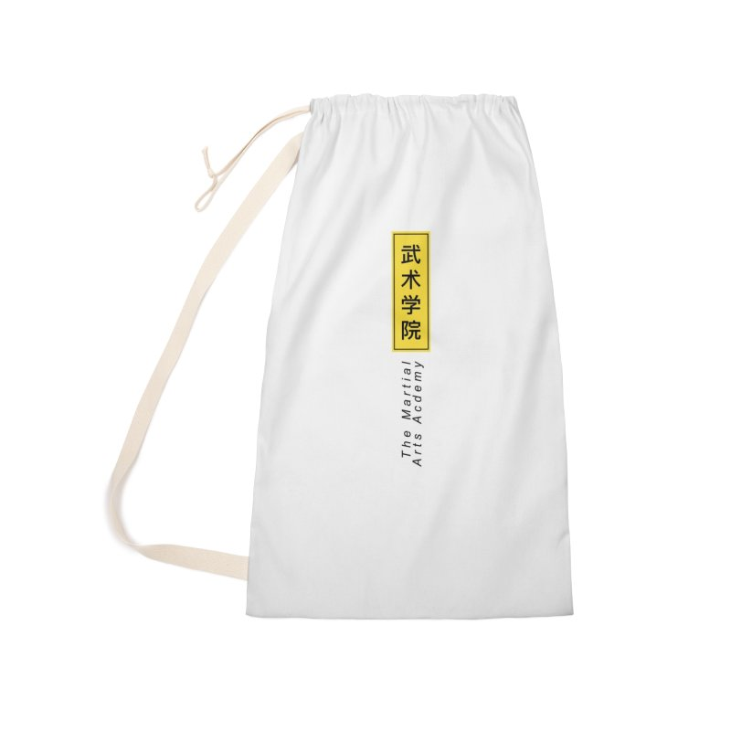 Logo Vertical Accessories Laundry Bag Bag by The Martial Arts Academy's Store