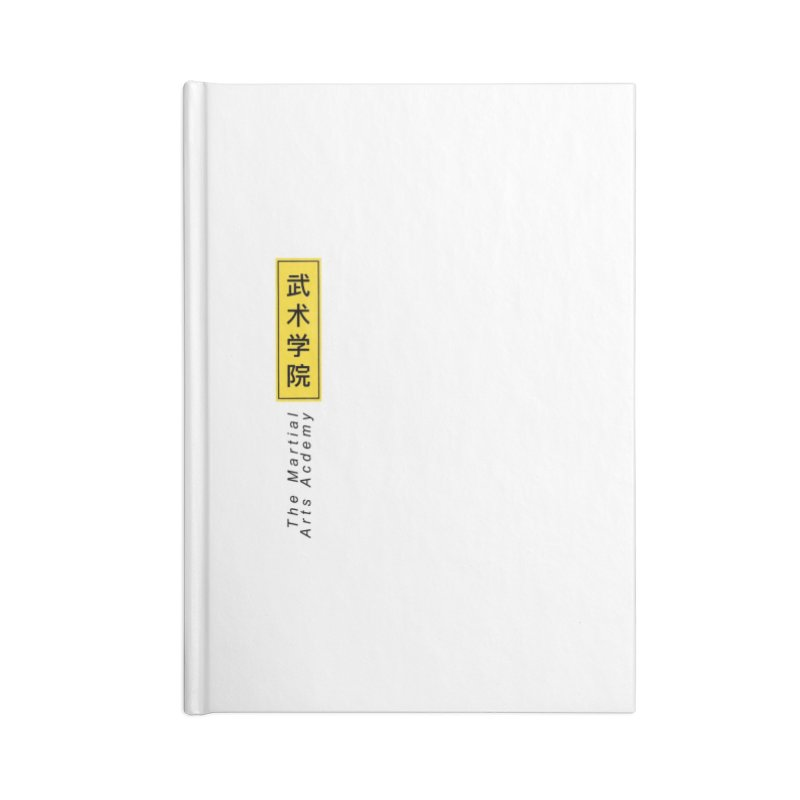 Logo Vertical Accessories Lined Journal Notebook by The Martial Arts Academy's Store