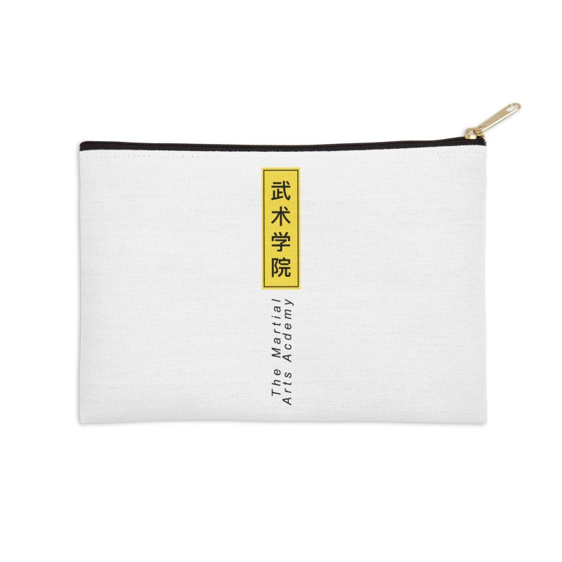 Logo Vertical Accessories Zip Pouch by The Martial Arts Academy's Store