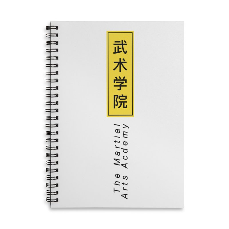 Logo Vertical Accessories Lined Spiral Notebook by The Martial Arts Academy's Store