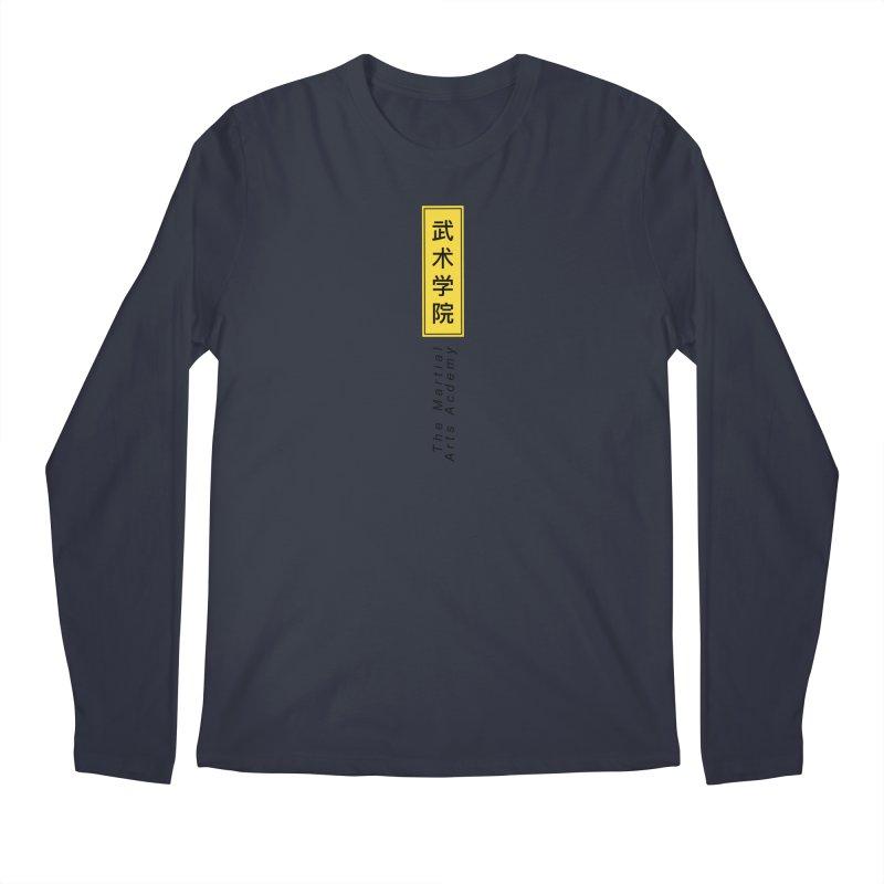 Logo Vertical Men's Regular Longsleeve T-Shirt by The Martial Arts Academy's Store