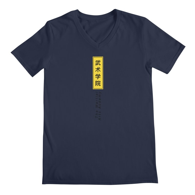 Logo Vertical Men's V-Neck by The Martial Arts Academy's Store