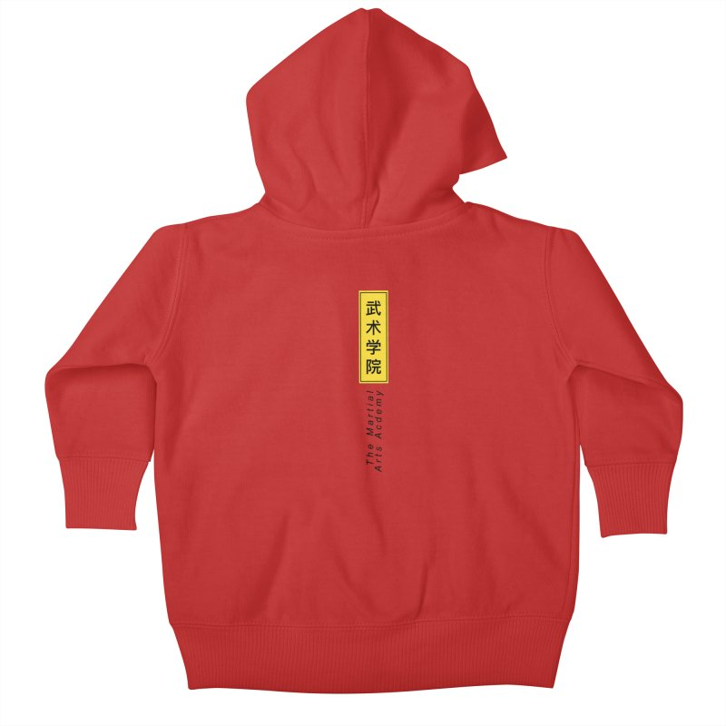 Logo Vertical Kids Baby Zip-Up Hoody by The Martial Arts Academy's Store