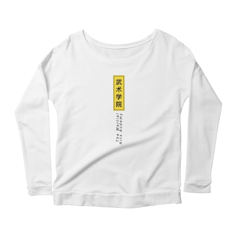 Logo Vertical Women's Scoop Neck Longsleeve T-Shirt by The Martial Arts Academy's Store