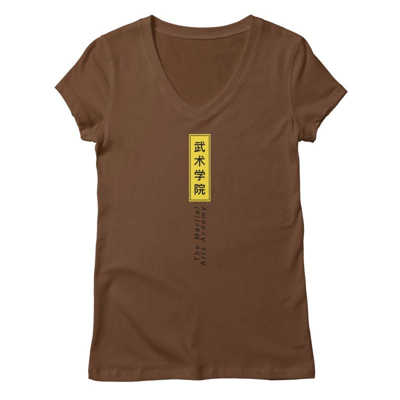 Logo Vertical Women's Regular V-Neck by The Martial Arts Academy's Store