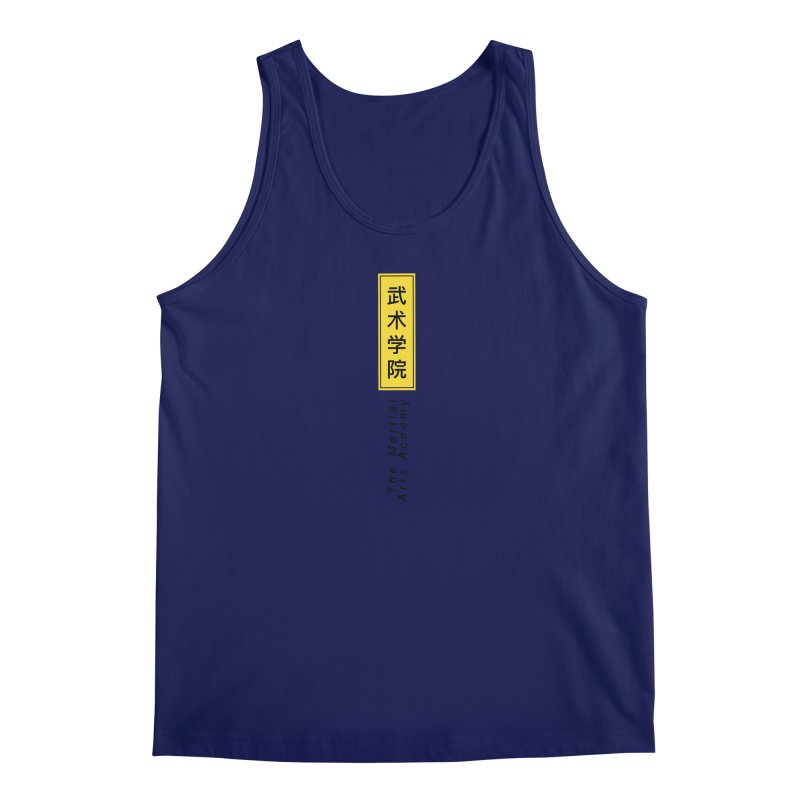 Logo Vertical Men's Regular Tank by The Martial Arts Academy's Store