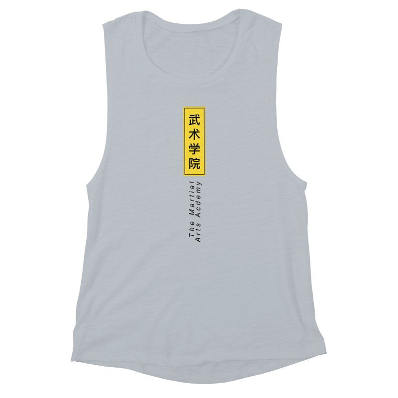 Logo Vertical Women's Muscle Tank by The Martial Arts Academy's Store