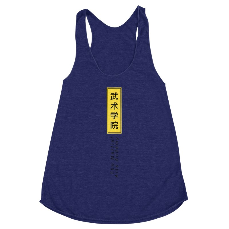 Logo Vertical Women's Racerback Triblend Tank by The Martial Arts Academy's Store