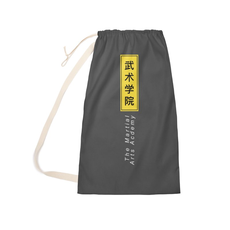 Logo Vert, white Accessories Laundry Bag Bag by The Martial Arts Academy's Store