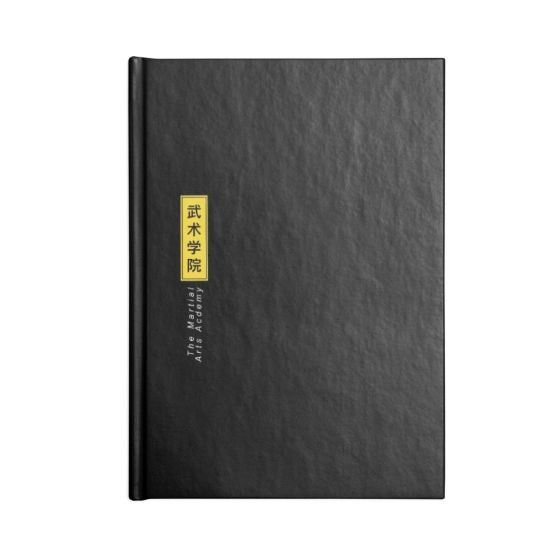 Logo Vert, white Accessories Blank Journal Notebook by The Martial Arts Academy's Store