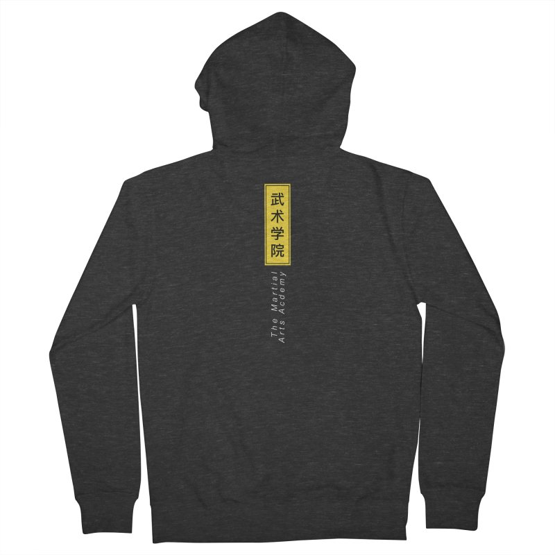 Logo Vert, white Men's French Terry Zip-Up Hoody by The Martial Arts Academy's Store