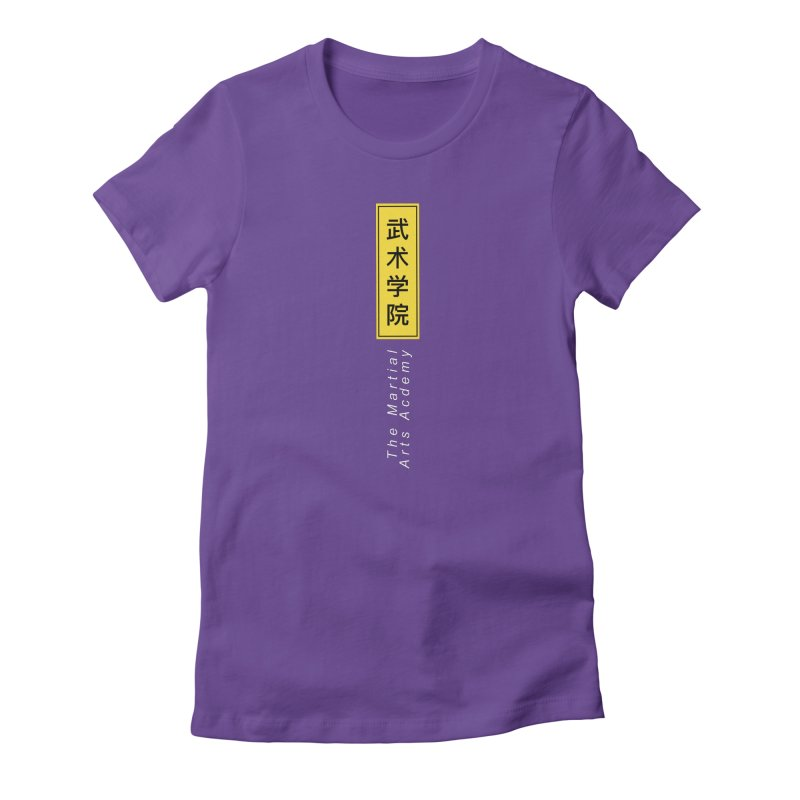 Logo Vert, white Women's T-Shirt by The Martial Arts Academy's Store