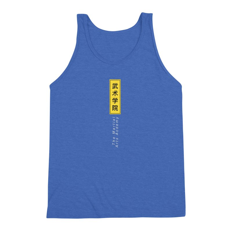 Logo Vert, white Men's Triblend Tank by The Martial Arts Academy's Store