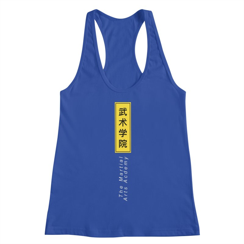 Logo Vert, white Women's Racerback Tank by The Martial Arts Academy's Store
