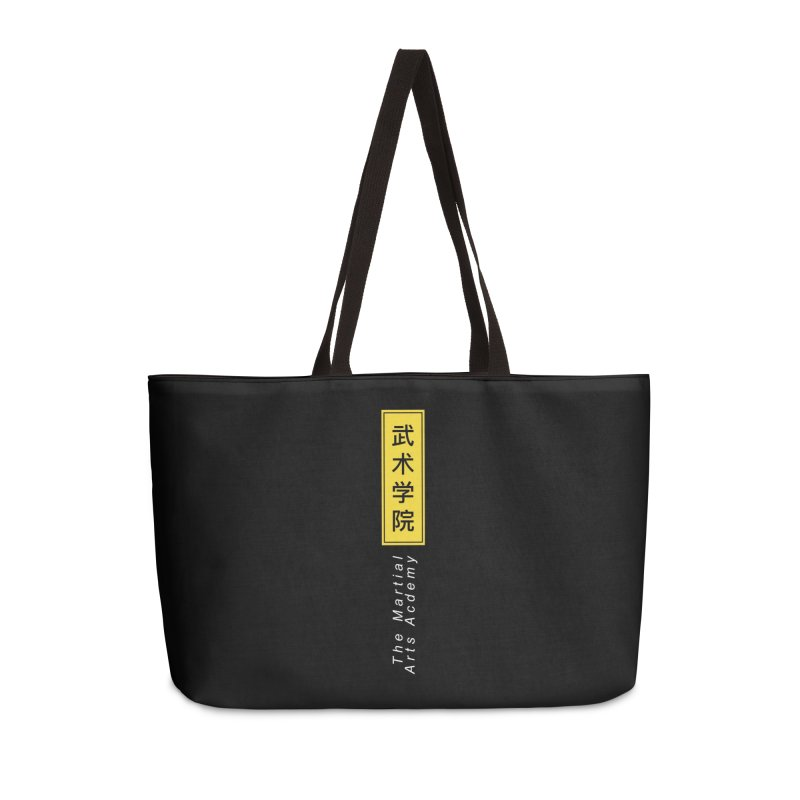 Logo Vert, white Accessories Weekender Bag Bag by The Martial Arts Academy's Store