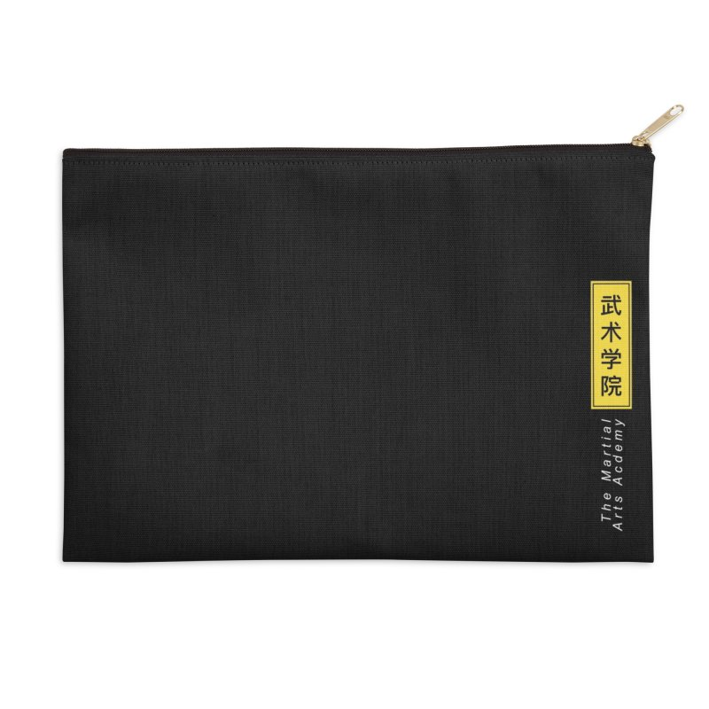Logo Vert, white Accessories Zip Pouch by The Martial Arts Academy's Store