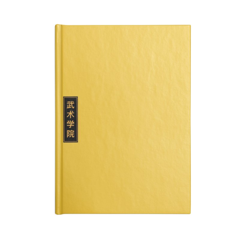 Vert Logo, reversed Accessories Lined Journal Notebook by The Martial Arts Academy's Store