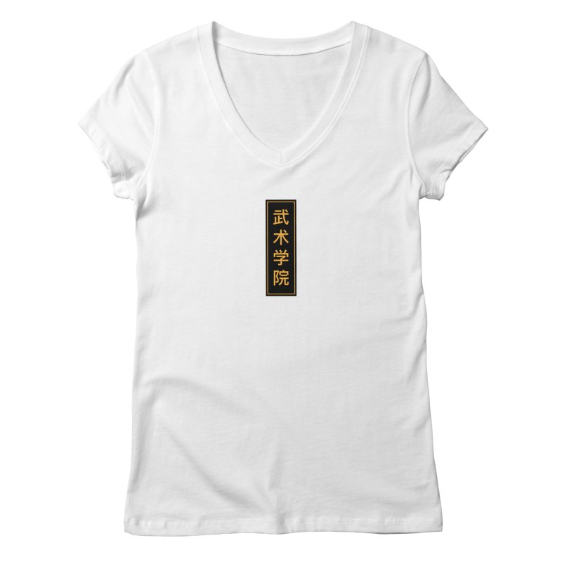 Vert Logo, reversed Women's V-Neck by The Martial Arts Academy's Store