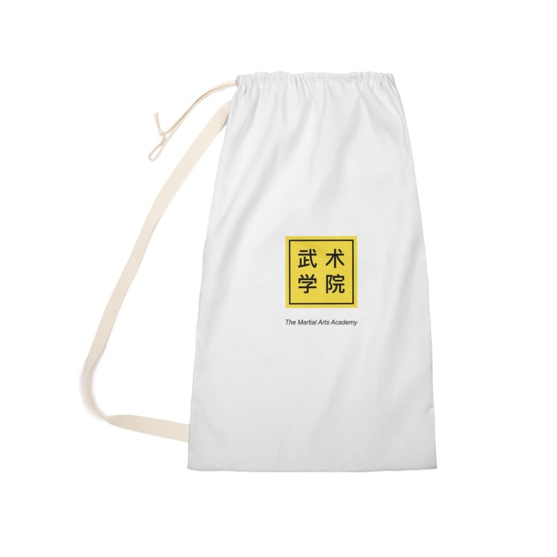 LogoSquare Black Type Accessories Laundry Bag Bag by The Martial Arts Academy's Store