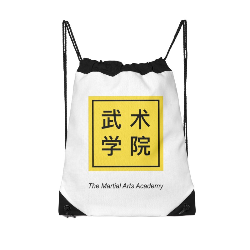 LogoSquare Black Type Accessories Drawstring Bag Bag by The Martial Arts Academy's Store