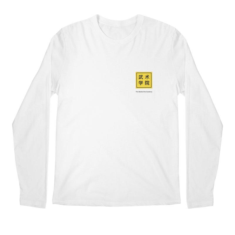 LogoSquare Black Type Men's Regular Longsleeve T-Shirt by The Martial Arts Academy's Store