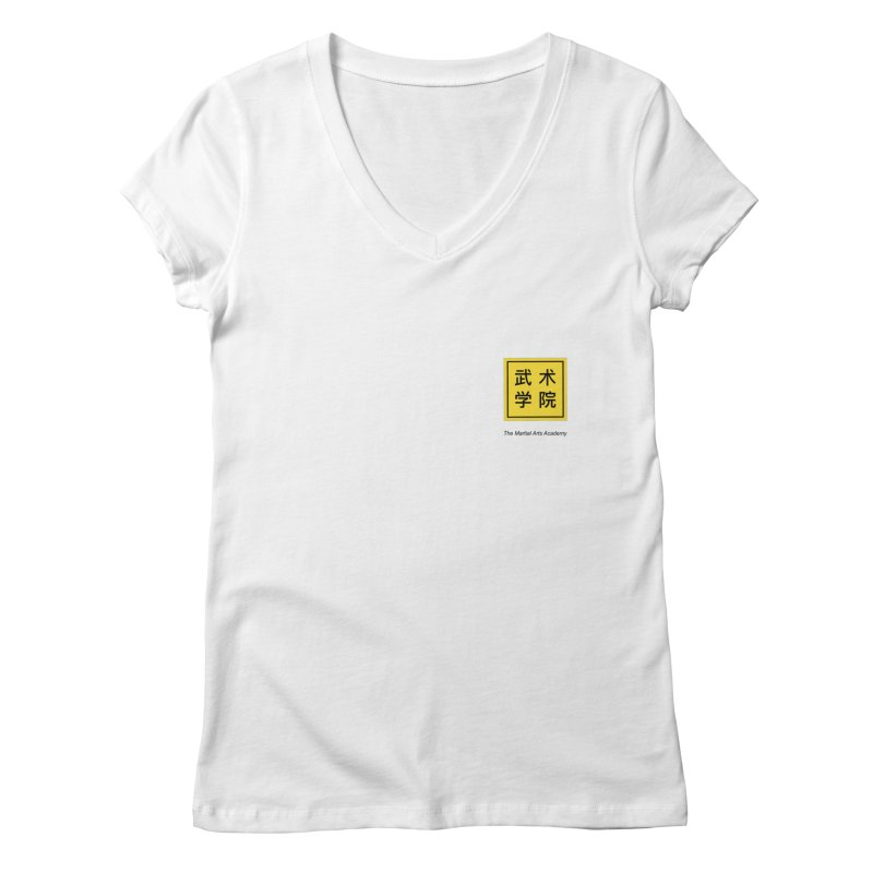 LogoSquare Black Type Women's V-Neck by The Martial Arts Academy's Store