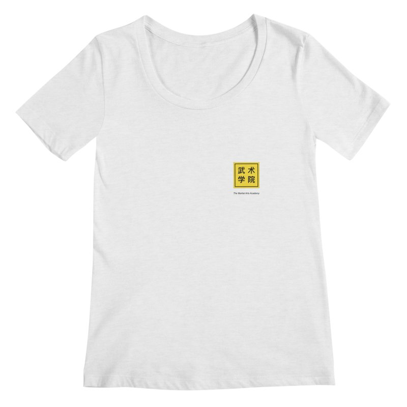 LogoSquare Black Type Women's Regular Scoop Neck by The Martial Arts Academy's Store