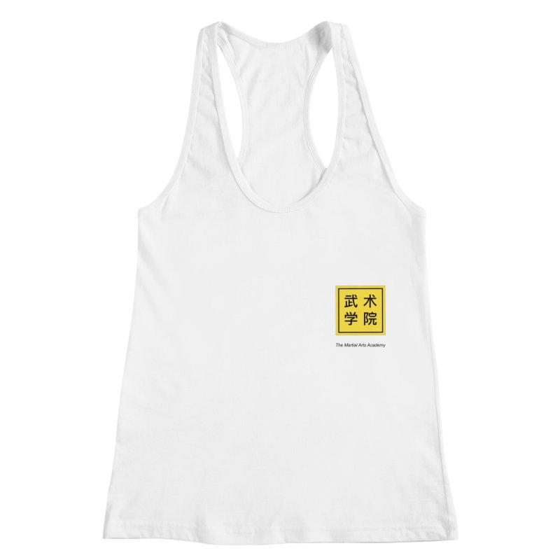 LogoSquare Black Type Women's Racerback Tank by The Martial Arts Academy's Store
