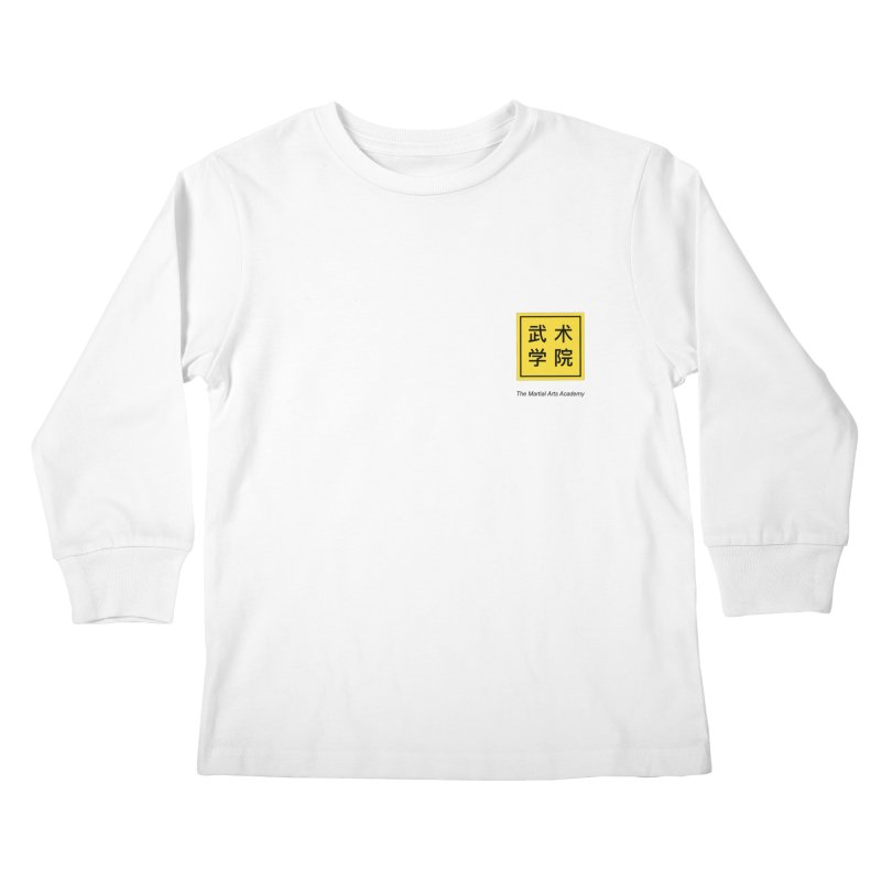 LogoSquare Black Type Kids Longsleeve T-Shirt by The Martial Arts Academy's Store