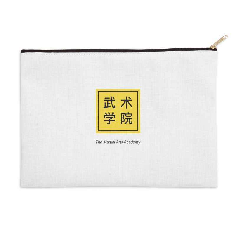 LogoSquare Black Type Accessories Zip Pouch by The Martial Arts Academy's Store