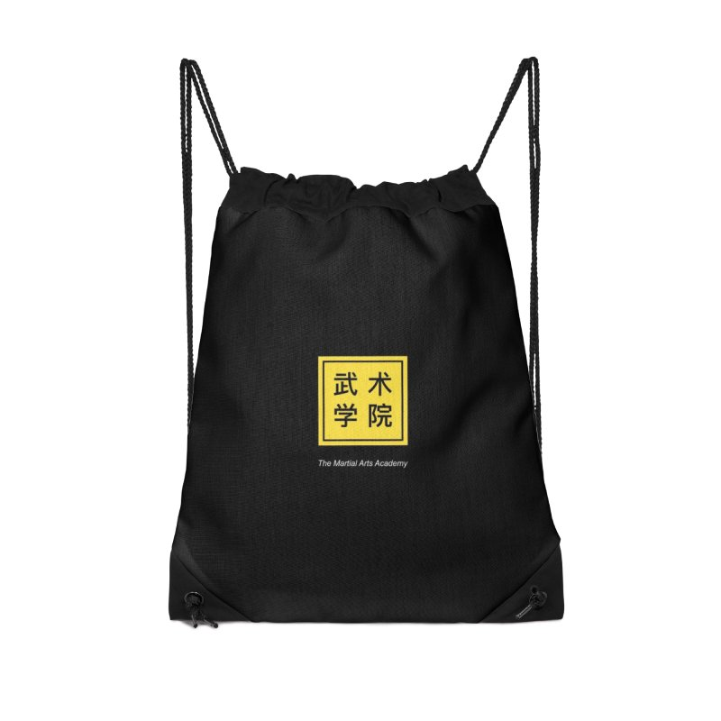 Logo Square White Type Accessories Drawstring Bag Bag by The Martial Arts Academy's Store