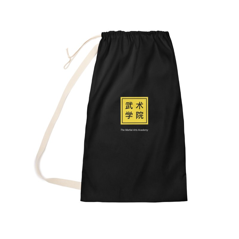 Logo Square White Type Accessories Laundry Bag Bag by The Martial Arts Academy's Store