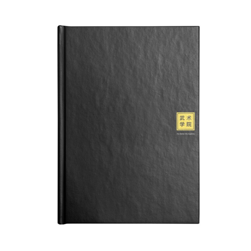 Logo Square White Type Accessories Lined Journal Notebook by The Martial Arts Academy's Store