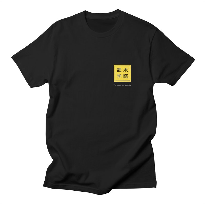 Logo Square White Type Men's T-Shirt by The Martial Arts Academy's Store