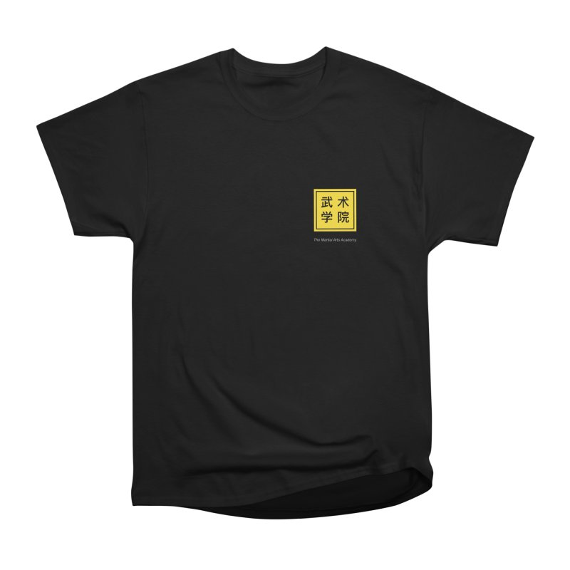 Logo Square White Type Men's Heavyweight T-Shirt by The Martial Arts Academy's Store
