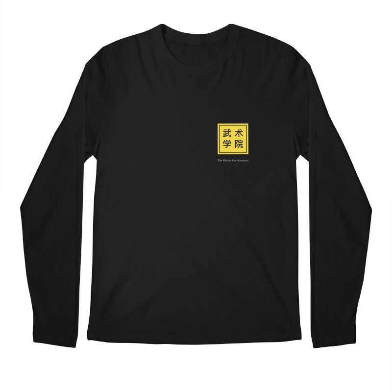 Logo Square White Type Men's Longsleeve T-Shirt by The Martial Arts Academy's Store