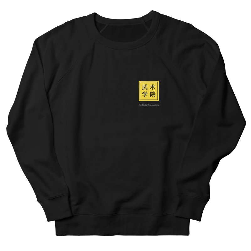 Logo Square White Type Men's French Terry Sweatshirt by The Martial Arts Academy's Store