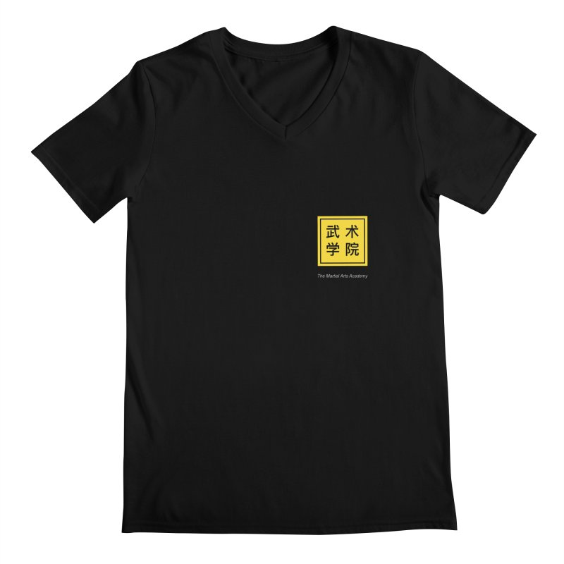 Logo Square White Type Men's V-Neck by The Martial Arts Academy's Store