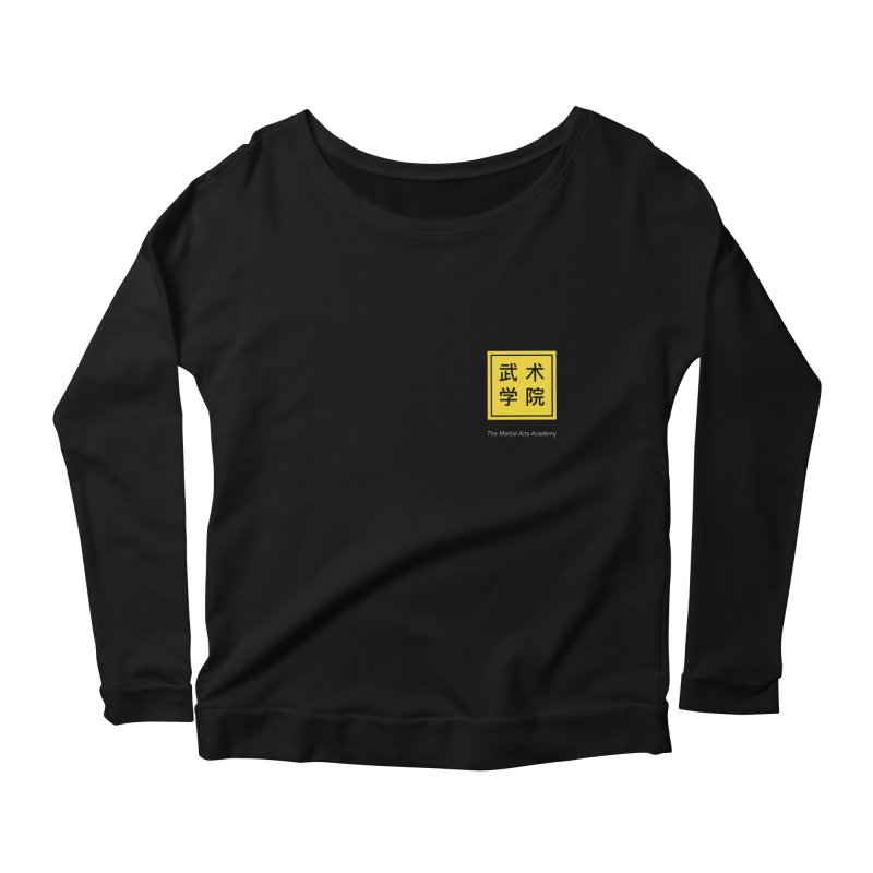 Logo Square White Type Women's Scoop Neck Longsleeve T-Shirt by The Martial Arts Academy's Store